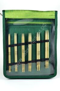 Knit Pro Bamboo Interchangeable Deluxe Set 24 K Gold